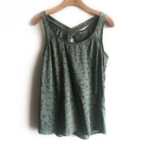 The North Face green Breezeback woven tank top